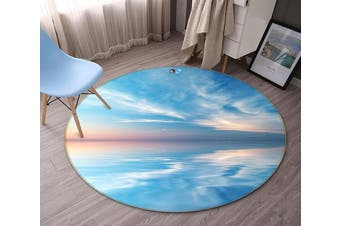 3D Boundless Blue Sea 121 Round Non Slip Rug Mat, 160cm(63'')