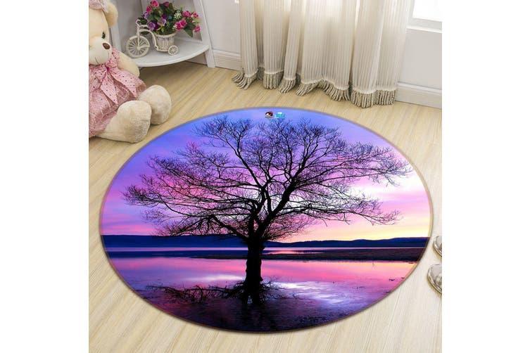 3D Pretty Lake Sunset 124 Round Non Slip Rug Mat, 200cm(78.7'')