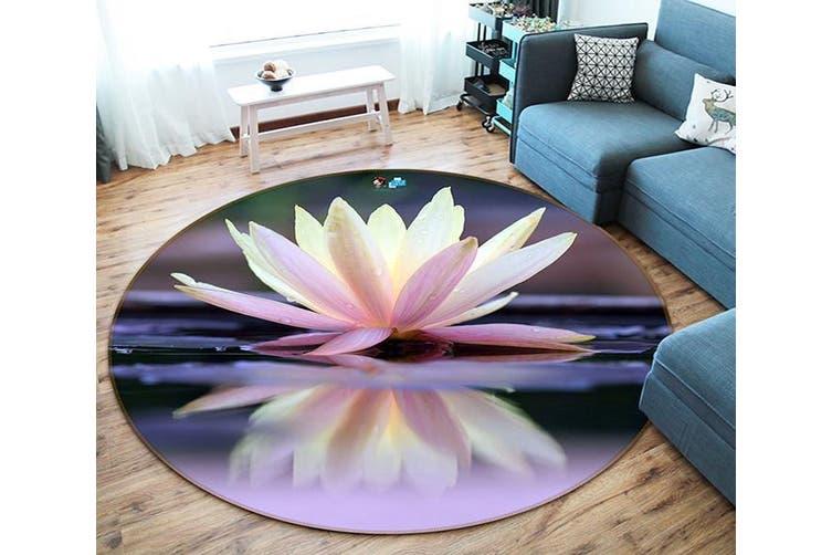 3D Pretty Lily 97 Round Non Slip Rug Mat, 200cm(78.7'')