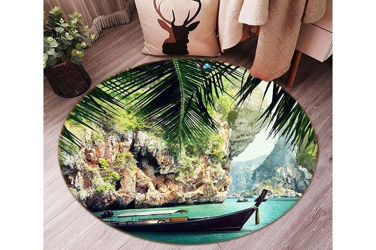 3D Bay Scenery 85 Round Non Slip Rug Mat, 60cm(23.6'')