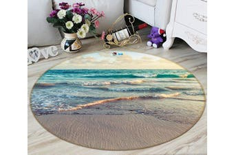 3D Peaceful Sea Scenery 81 Round Non Slip Rug Mat, 180cm(70.9'')