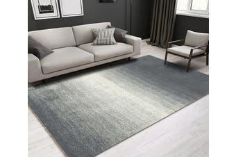 """3D Gray Stripe WG095 Non Slip Rug Mat, 160cmx240cm (63""""x94.5"""")"""