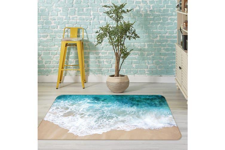 3D Waves Beach 36006 Non Slip Rug Mat
