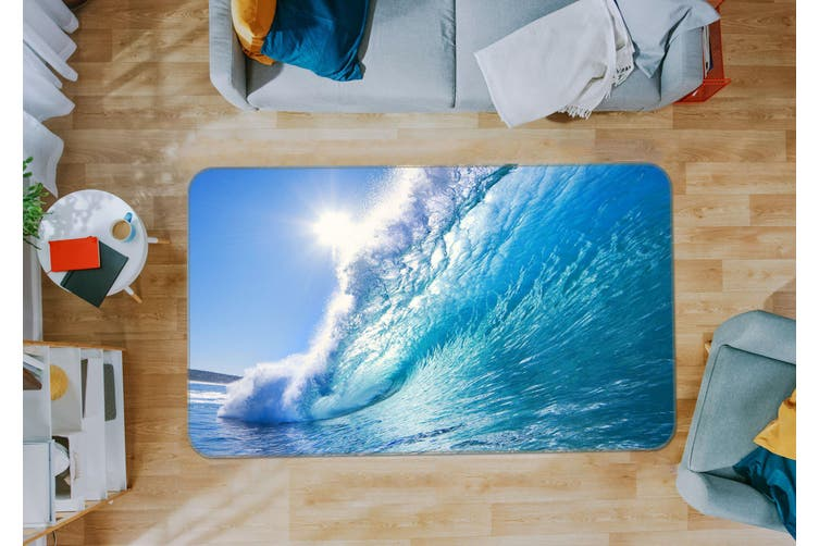 3D Waves Sunlight 36005 Non Slip Rug Mat