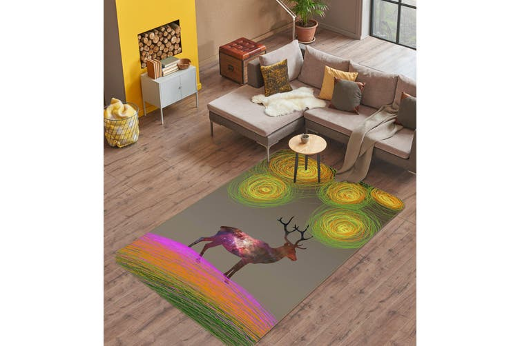 3D Deer 35242 Non Slip Rug Mat