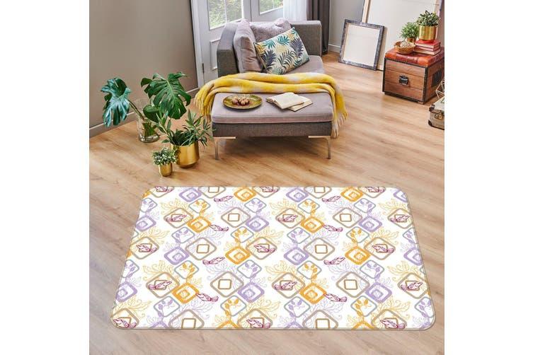 3D Cube Pattern 35238 Non Slip Rug Mat