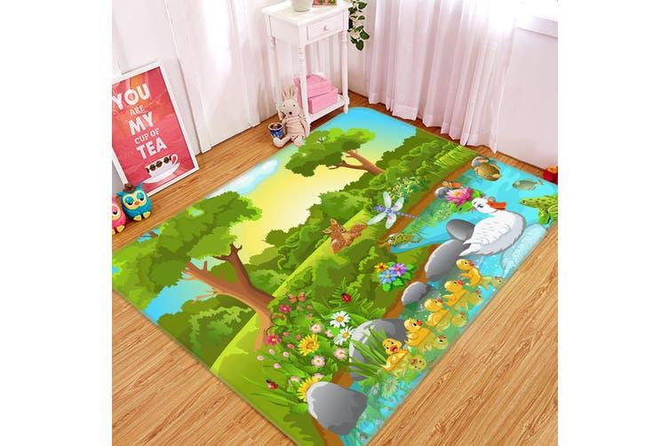 3D Trees Duck 35235 Non Slip Rug Mat