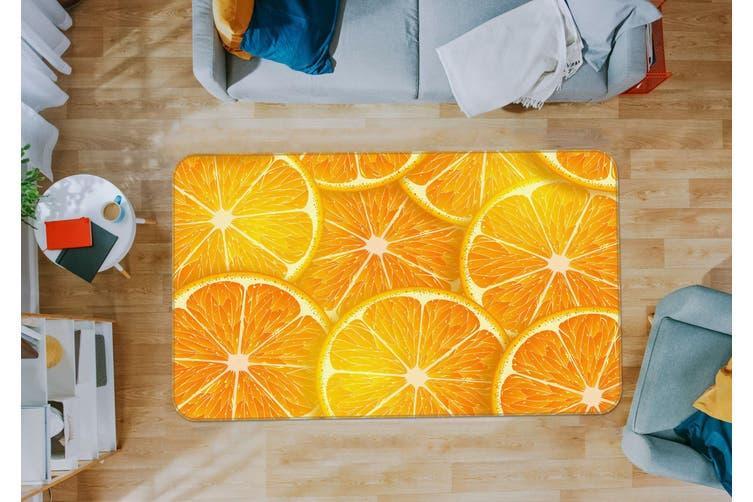 3D Orange Slices 35227 Non Slip Rug Mat
