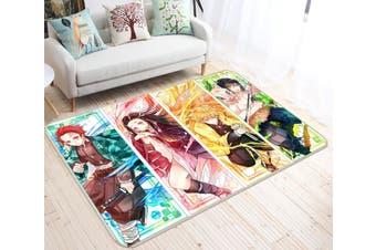"3D Kimetsu No Yaiba 1024 Anime Non Slip Rug Mat, 120cmx180cm (47.2""x70.9"")"