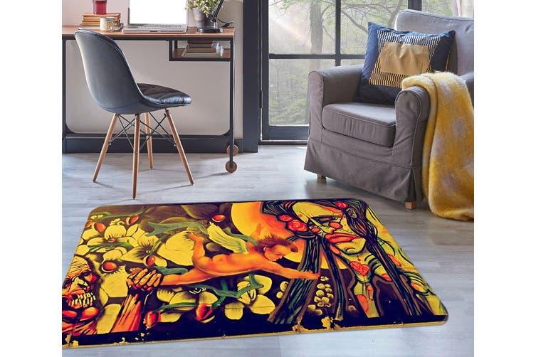 3D Angel Pattern 35206 Non Slip Rug Mat