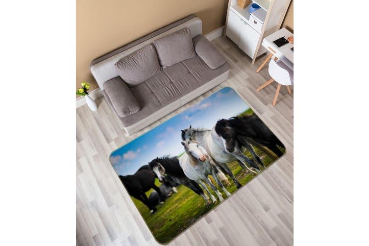 3D Horse Group 35204 Non Slip Rug Mat