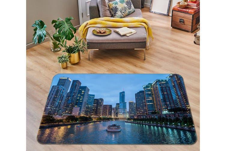 3D River Building 35194 Non Slip Rug Mat