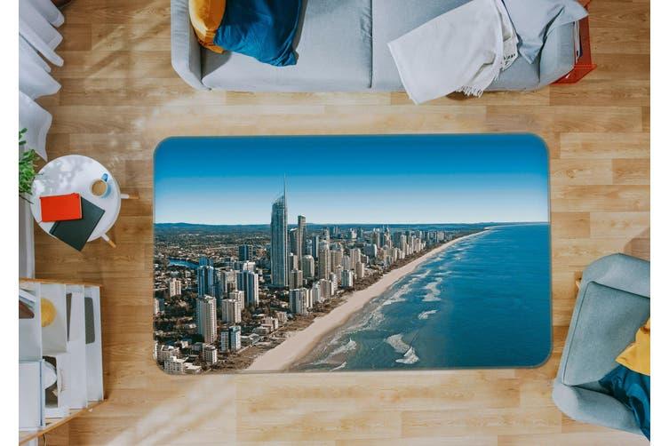 3D Seaside City 35187 Non Slip Rug Mat