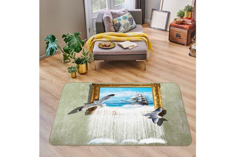 3D Picture Frame Seagull 35168 Non Slip Rug Mat