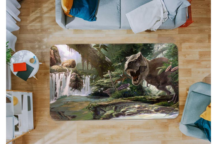 3D Era Of Dinosaurs 35167 Non Slip Rug Mat