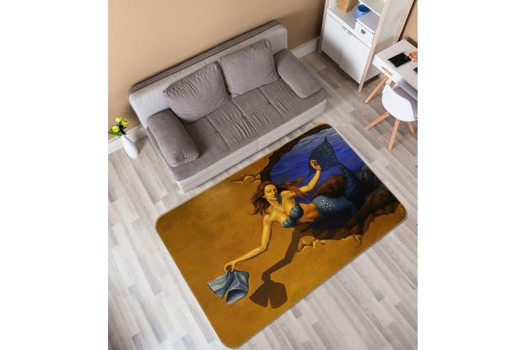 3D Mermaid 35166 Non Slip Rug Mat