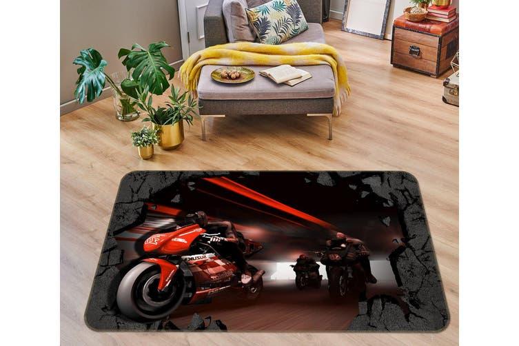 3D Motorcycle 35160 Non Slip Rug Mat