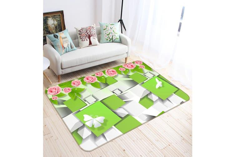 3D Square Butterfly 35159 Non Slip Rug Mat
