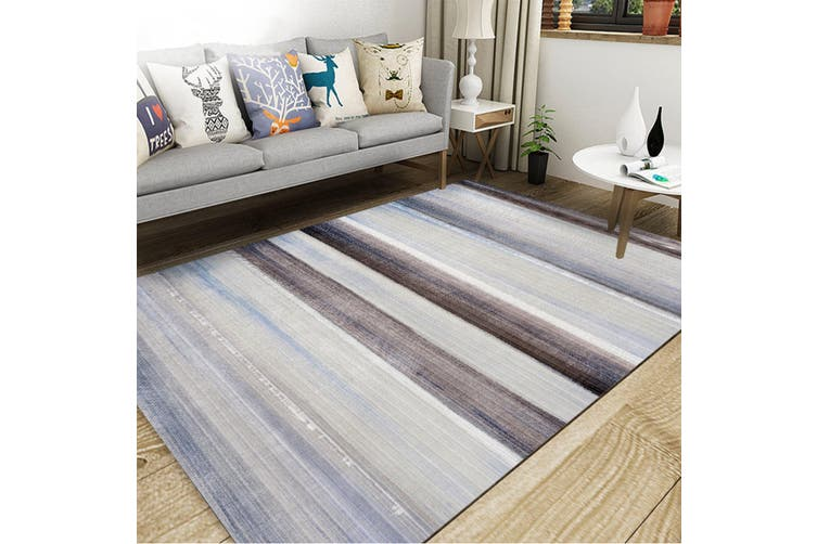 "3D Color Stripe WG079 Non Slip Rug Mat, 40cmx60cm (15.7""x23.6"")"
