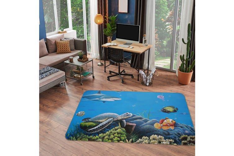 3D Sea Fish 35157 Non Slip Rug Mat