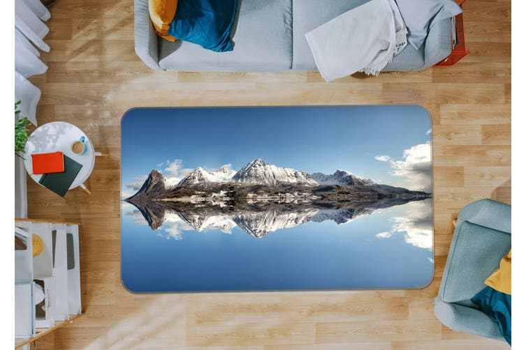 3D Mountain Lake 35146 Non Slip Rug Mat