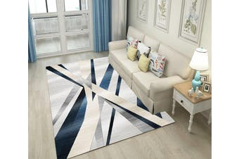 "3D Color Stripe WG077 Non Slip Rug Mat, 140cmx200cm (55.1""x78.8"")"
