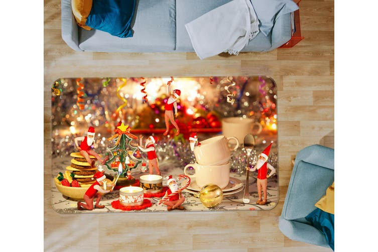 3D Christmas Cups 35130 Non Slip Rug Mat