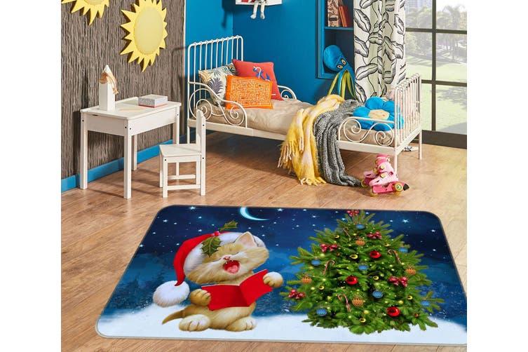 3D Cat Christmas Tree 35129 Non Slip Rug Mat