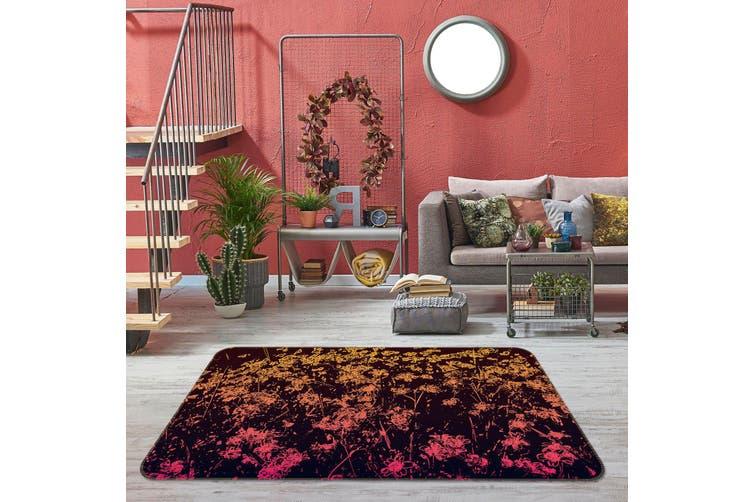 3D Floral Pattern 35122 Non Slip Rug Mat