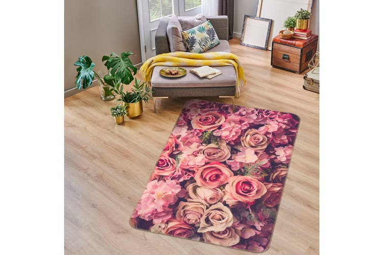 3D Flowers 35118 Non Slip Rug Mat