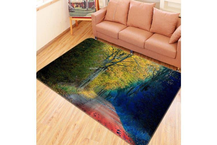 3D Trees Street 35093 Non Slip Rug Mat