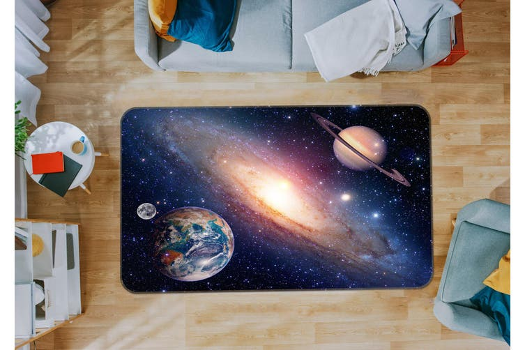 3D Galaxy Planet 35089 Non Slip Rug Mat