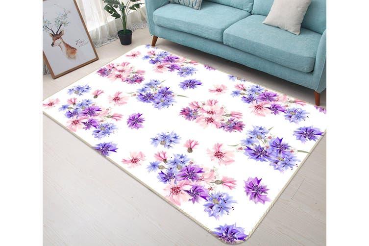 3D Flowers 35081 Non Slip Rug Mat