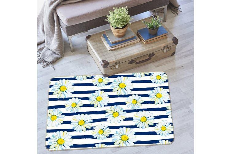 3D Chrysanthemum Pattern 35080 Non Slip Rug Mat