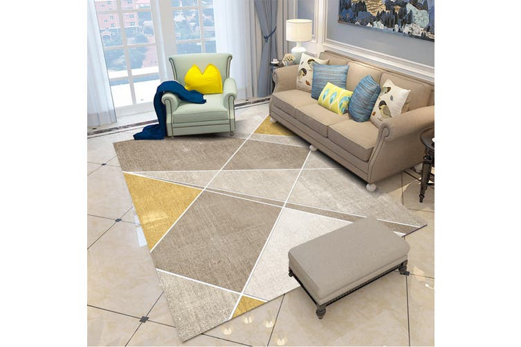 "3D Colored Irregular Pattern WG072 Non Slip Rug Mat, 160cmx240cm (63""x94.5"")"