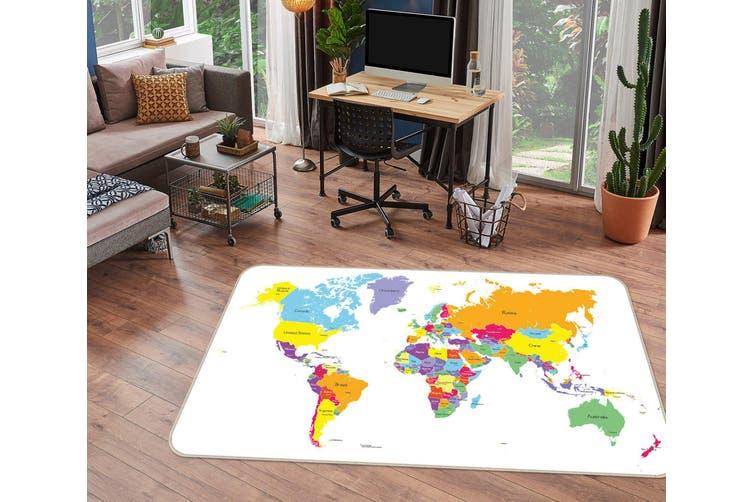 3D Map Pattern 35075 Non Slip Rug Mat