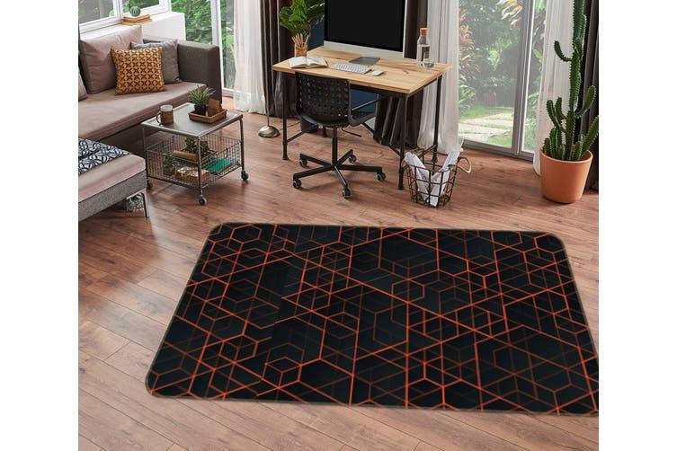 3D Cube Lines 35065 Non Slip Rug Mat