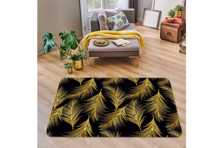 3D Leaves 35063 Non Slip Rug Mat