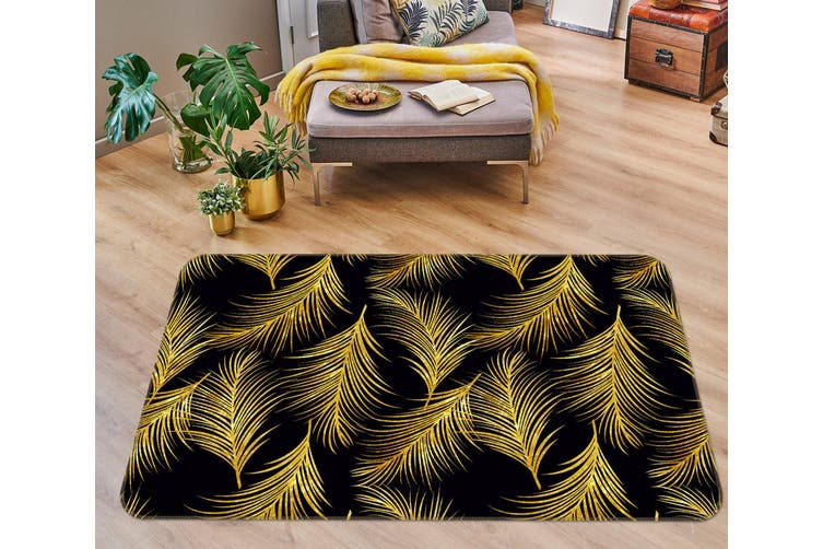 3D Leaves 35063 Non Slip Rug Mat