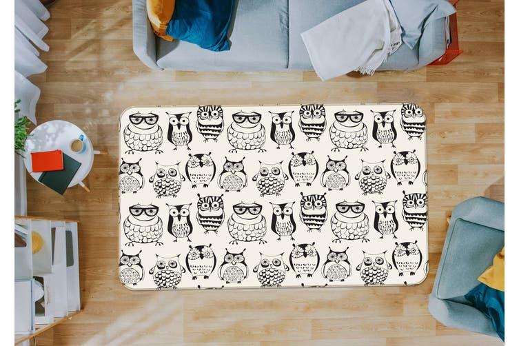 3D Owl Pattern 35052 Non Slip Rug Mat