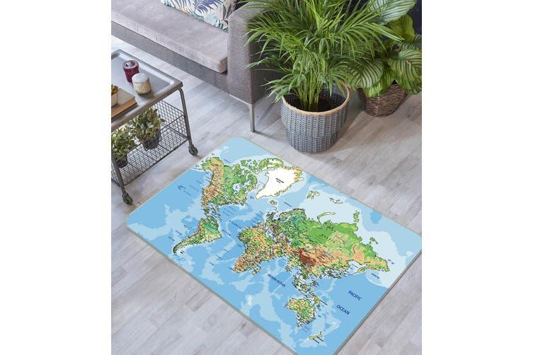 3D Map 35047 Non Slip Rug Mat