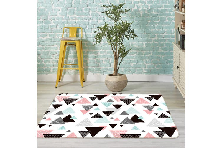 3D Triangle Pattern 35042 Non Slip Rug Mat