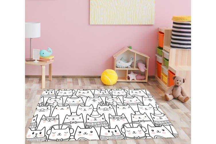 3D Cat Pattern 35039 Non Slip Rug Mat
