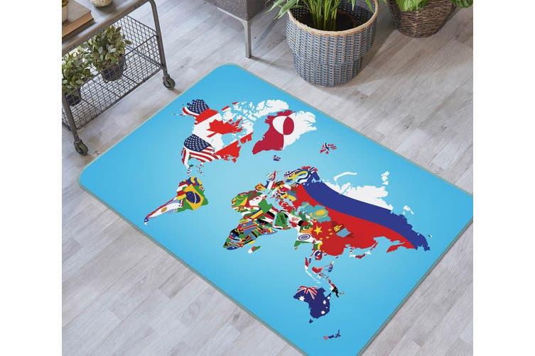 3D Map 35036 Non Slip Rug Mat