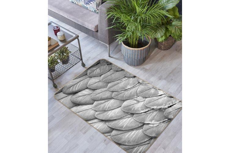 3D Feather Pattern 35026 Non Slip Rug Mat
