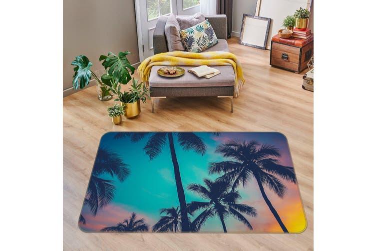 3D Coconut Tree 35025 Non Slip Rug Mat