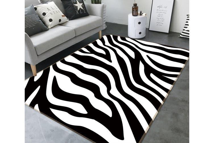3D Zebra Pattern 35022 Non Slip Rug Mat