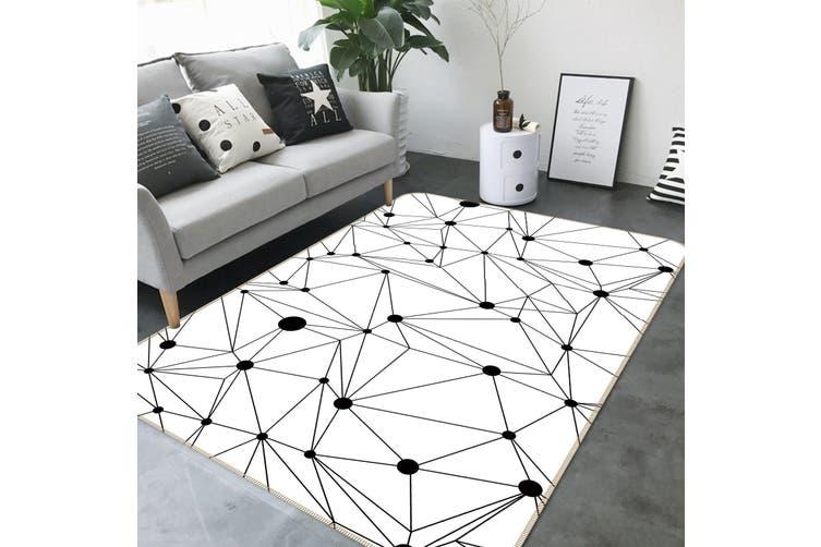 3D Line Pattern 35011 Non Slip Rug Mat