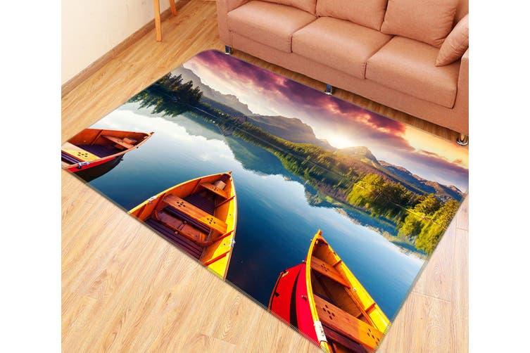 3D Lake Boat 35010 Non Slip Rug Mat