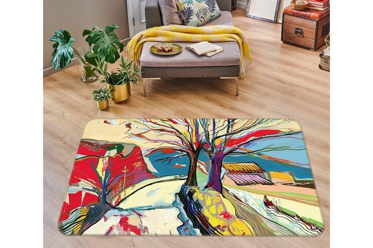 3D Trees 35005 Non Slip Rug Mat